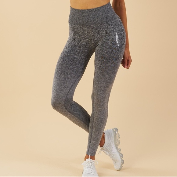 f3b8366e292580 Gymshark Pants | Ombre Seamless Leggings Blacklight Grey | Poshmark